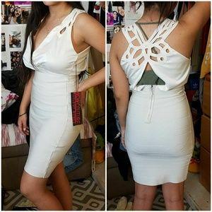 Sexy Little White Bandage Dress